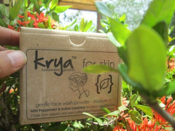 Krya Moisture plus face wash powder for gentle cleansing of dry, vata prone facial skin