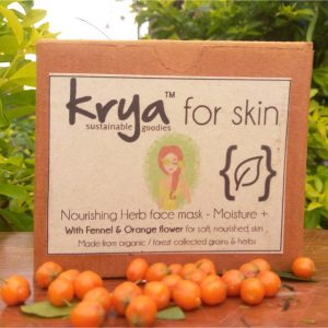 Krya Moisture plus face mask - an ayurvedic lepa for dry, under nourished skin