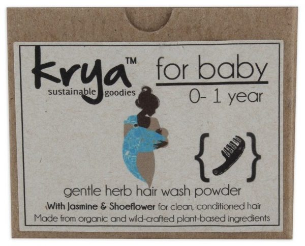 Krya baby hair wash is a whole herb holistic , chemical free formulation that gently cleanses babys scalp and hair