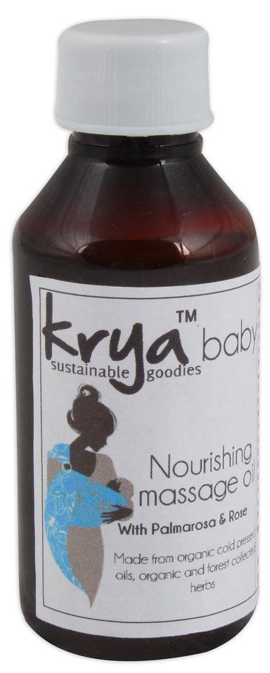 Krya palmarosa rose baby oil is useful when baby has dry, scaly skin