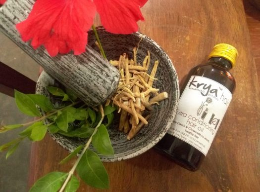 Krya Conditioning ahir oil nourishes and hydrates and strengthens dry, frizzy hair & scalp