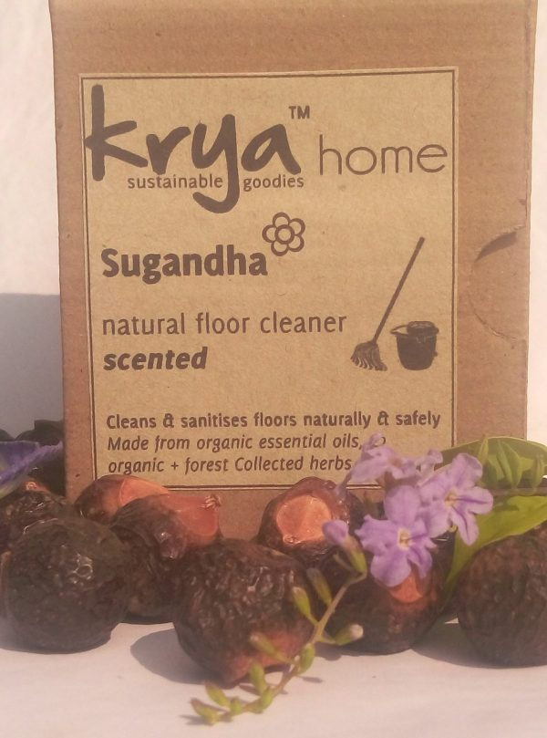 Krya Sugandha Floor cleaner is a naturally fragrant whole herb and essential oil, non toxic floor cleaner