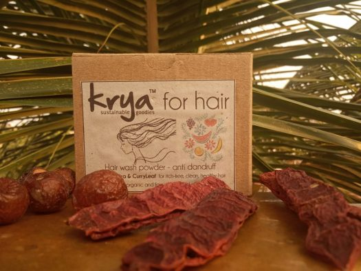 Krya Anti Dandruff hair wash is a cleansing, de-clogging and itch reducing gentle , natural hair cleanser for dandruff prone itchy scalp and hair