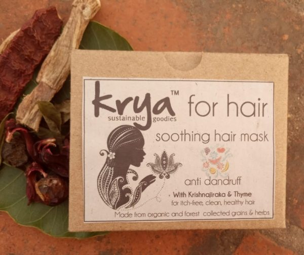 Krya Anti Dandruff hair mask to unclog and cleanse dandruff prone hair and cut down fungal growth