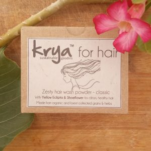 Krya Classic hairwash is formulated to through cleanse, balance excess oil and cool pitta prone, oily scalp and hair