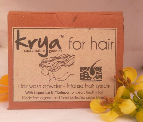 Krya Intense hairwash is a mild and gentle hair cleanser taht carefully cleanses weak, brittle hair that has suffered after a long illness