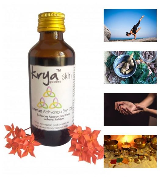 Krya Intense Abhyanga oil is an intensely vata pacifying abhyanga oil