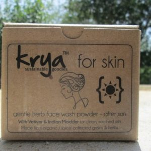 Krya after sun face wash for high sun exposure, sun burns and tanning