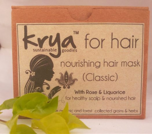 Krya Classic hair mask is formulated to de-clog and intensely nourish oily, pitta prone hair that is prone to premature greying