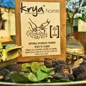 Krya brass & copper dishwash is a whole herb , toxin free dishwash product esepcially formulated for brass and copper vessels