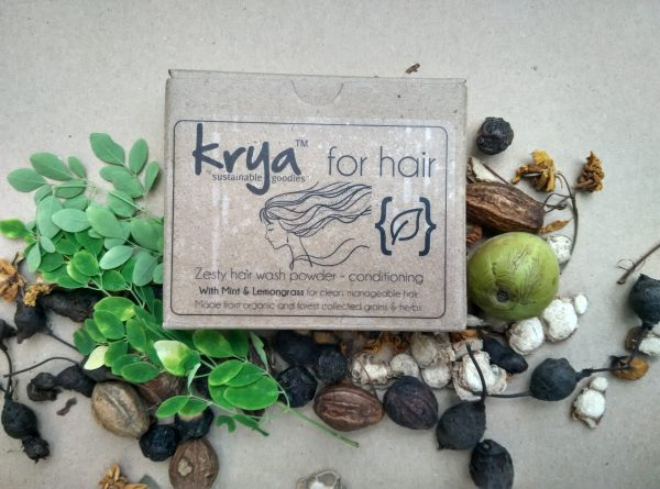 Krya Conditioning hair wash gently cleanses dry, frizzy hair without stripping natural oils from the scalp