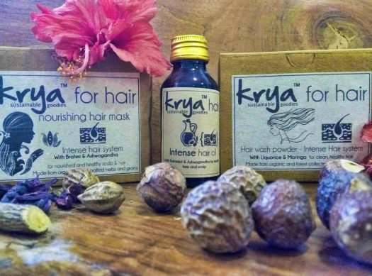 Krya 3 part intense hair revititalizing system for hairfall due to long illness