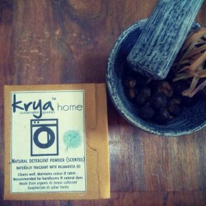 Krya Palmarosa detergenet is a gentle non toxic scneted detergent with organic Palmarosa essential oil