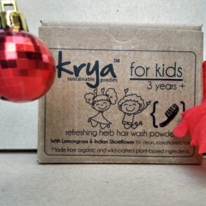 Krya Kids hairwash through cleanses your child's scalp and hair without using any chemicals or stripping natural oils from hair