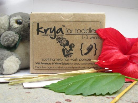 Krya toddler hair wash - gently cleanses your toddlers scalp and hair without any chemicals