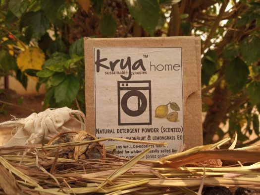 Krya Lemon Deetrgent - soapberries with the additional cleaning power of lemons and lemongrass