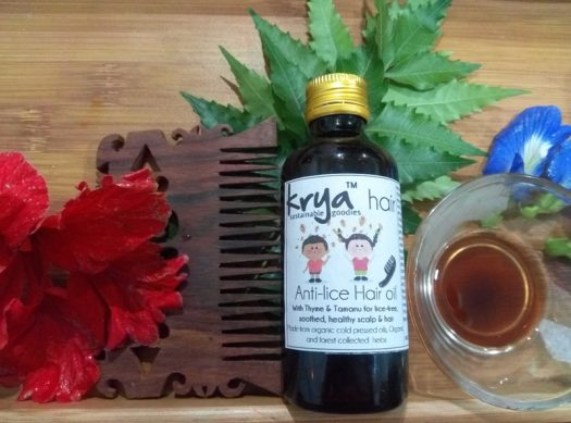 Krya Anti Lice hair oil is a purely natural ayurvedic formula that is non toxic and safe for children