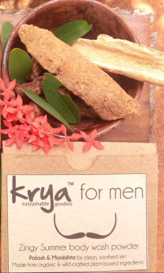 Krya Zingy bodywash for men - for high sun exposure, sun burn, tanning