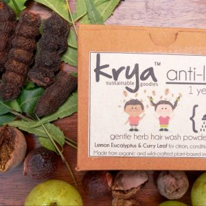 Krya Anti lice hairwash is a hair cleanser that is designed to soothe irritated scalp and gently repel lice