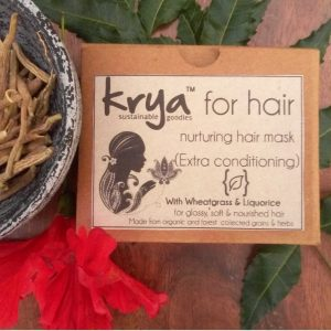 Krya Conditioning hair mask declogs and nurtures scalp and hydrates dry, frizzy vata type hair