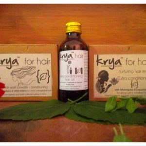 Krya Conditioning hair hydrating system is a 3 part system to cleanse, nourish and hydrate dry, frizzy vata dominant hair