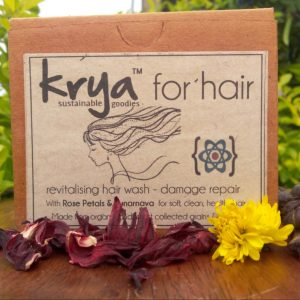 Krya Damage Repair Hair wash gently cleanses and detoxifies chemically damaged hair and scalp