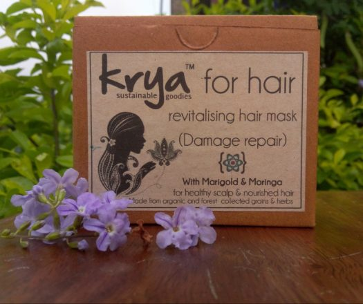 Krya Damage Repair Hair Mask (Lepa) helps de-clog and provides potent nutrients to chemically damaged scalps and hair