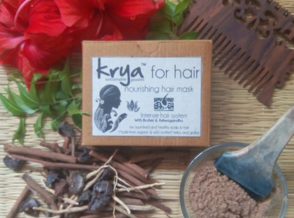 Krya Intense Hair mask detoxifies and nourishes scalp and stimulates healthy hair growth after a long illness