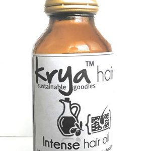 Krya Intense Hair oil provides potent nourishment and helps build healthy hair and strengthens a weak scalp