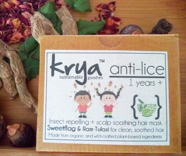Krya anti lice hair mask is designed to soothe the scalp and gently repel lice - purely natural, safe and non toxic