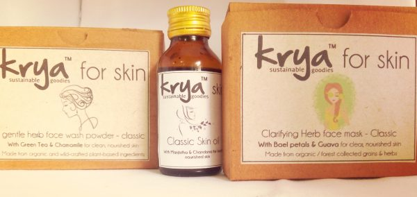 3 part Krya Classic face system -holistic skin care for oily skin