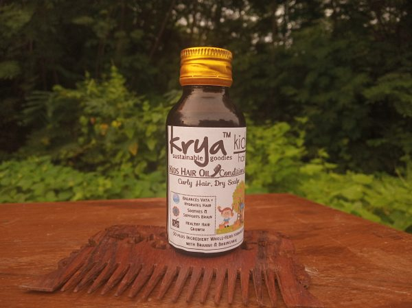Krya Kids hair oil - Conditioningis formulated for normal to dry hair and scalp